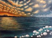 Orillas de la Estigia, óleo sobre lienzo. Demonio - Yolanda Molina Brañas