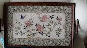 Antique japanese ceramic plaque. Víctor Arroyo Bielsa