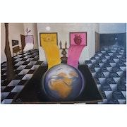 A visual reflection of Twin Hearts meditation. Masood Algburi