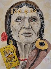Old Gypsy Tarot Reader.