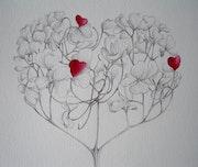 Cœur d'hortensia. Lucie Richard