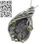 Trilobite Fossil Pendant with Peridot, Asaphiscus wheeleri Wire Wrap. Heather Jordan Jewelry