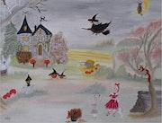 Halloween… La sorcière Séraphine.