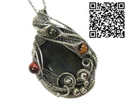 Blue Tiger Eye with Red, Golden and Blue Tiger Eye. Heather Jordan Jewelry