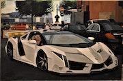 Lamborghini Veneno supercar painting, signed joky kamo. Joky Kamo