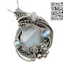 Blue Agate & Rainbow Moonstone Pendant. Heather Jordan Jewelry