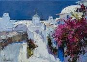 Santorini, Greece - Original landscape painting. Anastasiya Valiulina