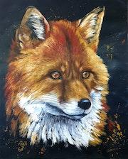 Fox série faun'etik. Carine Lauber-Artiste Peintre