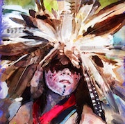 Walking Bear from the Washo Tribe. Phil Caterino