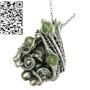Sikhote-Alin Meteorite Pendant with Peridot. Heather Jordan Jewelry
