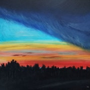 Sunset Behind Storm Front. Nathan Cain