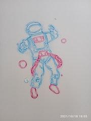 L astronaute néon. Marine Bioud