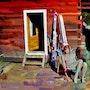 Dutch Girl at Madame Bourchare's in Chamonix. Phil Caterino