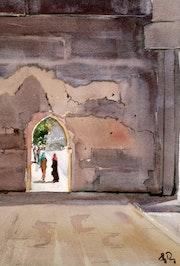 La porte des remparts. Guy Rossey