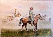 Rodeo en Provincia de Buenos Aires. Alberto Garcia Cano