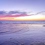 Lavender Fuchsia Dusk, St Kilda Beach Water's Edge. Sash Carti Emmanuelle Somerset-Beauverie