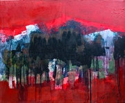 Red, black, abstract vision..