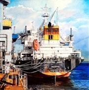 Marine - cargo à quai «sredna gora». Alain Bariou