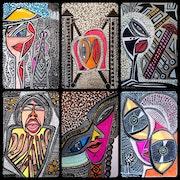 Pop Art Israeli painter artist modern art paintings and drawings.