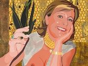 2020-09-10 Michèle (façon Gustav Klimt).