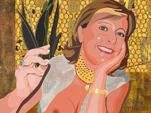 2020-09-10 Michèle (façon Gustav Klimt). Michel Normand Michel Normand