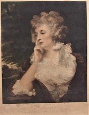 Mrs. Jane Braddyll, d'après Sir Joshua Reynolds (1723-1792), par W. J. Edward..