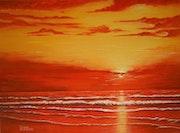 Coucher de soleil sur l'océan. Jean-Yves Saint Lezer