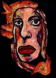 41- Señorita Langostino. Retratos Expresionistas..