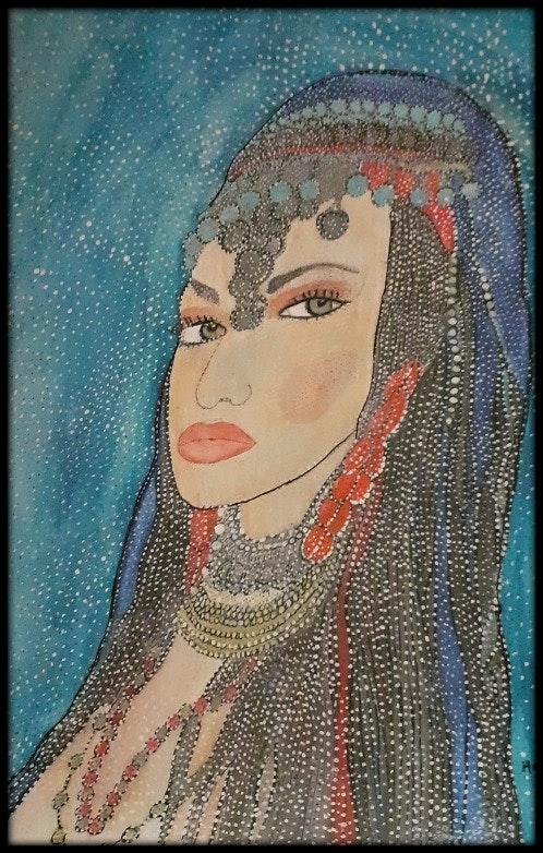 Princesse des milles et une nuit. Anne Bazabidila Anne. B