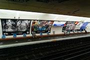 Perspective du quai Expo Métro Paris 2020 Chaussée d'Antin La Fayette.