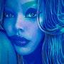 Retrato de mujer en bleu. Jean-Jacques Copetta