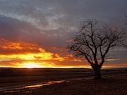 Coucher de soleil sur le plateau d'Albion.