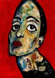 45- Distante. Retratos Expresionistas.. Carmen Luna