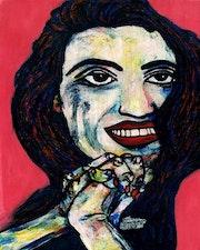 50- Angela. Retratos Expresionistas..