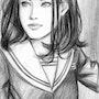 Portrait Graphite Jolie Fille. Yrya-Chan