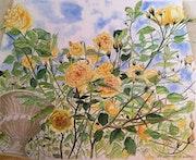 Les roses jaunes du confinement. Françoise-Elisabeth Lallemand