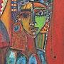 Femme bleu. Bfmoska