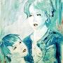 Elle et son fils. Bernard Vega