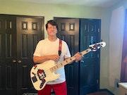 Home-built bass guitar.