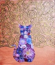 Le Chat Fleur (inspiration klimt).