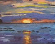 Coucher de soleil Mers-Les-Bains.