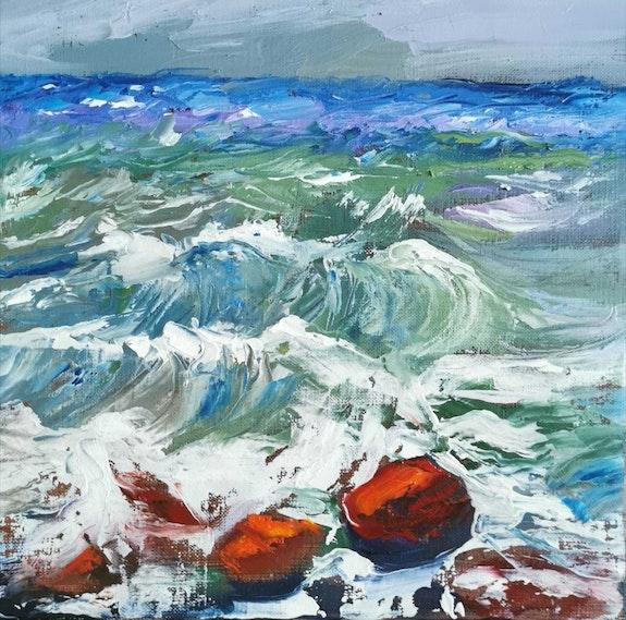 Stormy sea.  Catherine Maury