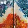 Fond Marin Abstrait » s». Patricia Vivier Robert » Pat V »