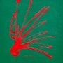 Jet rouge vert. Sculpeinteconceptdany