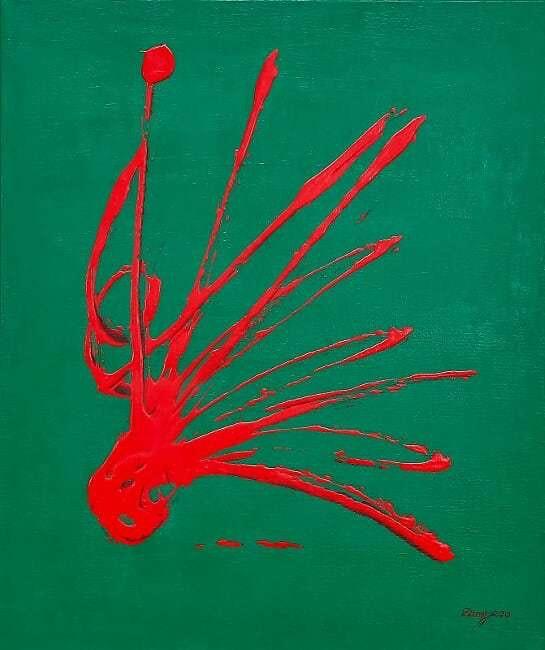 Jet rouge vert. Sculpeinte Concept Dany Sculpeinteconceptdany