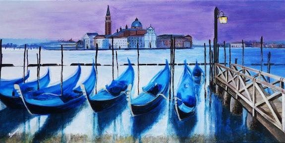 Venise (2020) (2020) Acrylic on canvas. Marine Sansas Marine Sansas