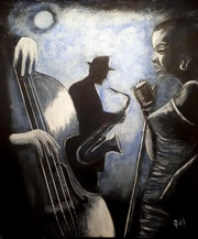 Jazz under the moonlight shadows.