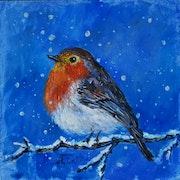 Robin oil canvas.