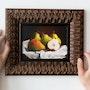 Original Oil Painting Still Life Pears - Framed Painting.
