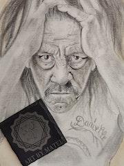 Danny Trajo Portrait Drawing. Art By Matei